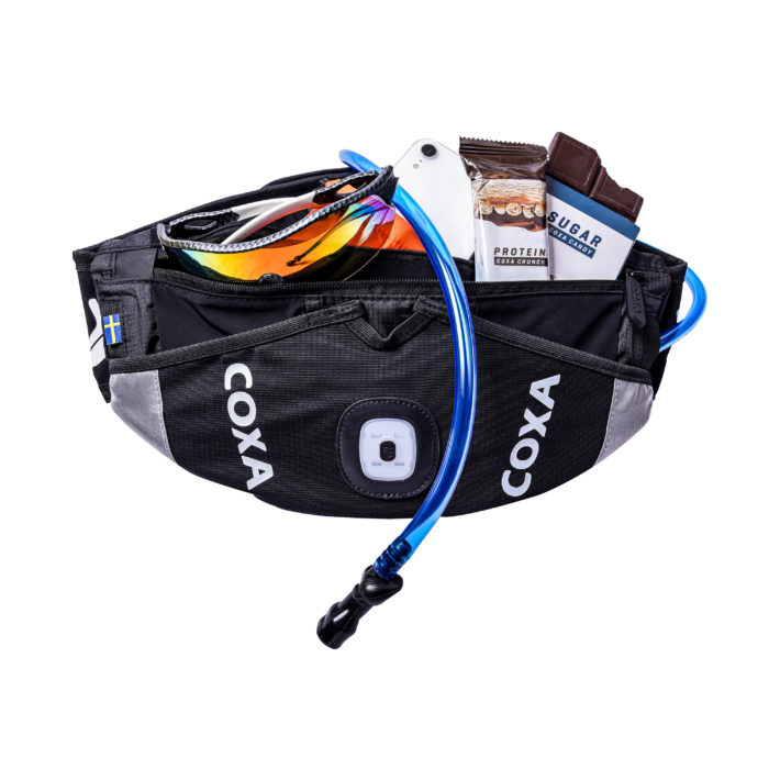 The Coxa WR1 Waistbelt filled with goodies